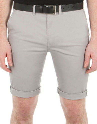 Ben Sherman Stretch Slim Chino Shorts-NATURAL-38