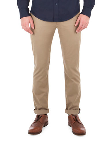 Ben Sherman Slim-Fit Stretch Chino Pants-BEIGE-34