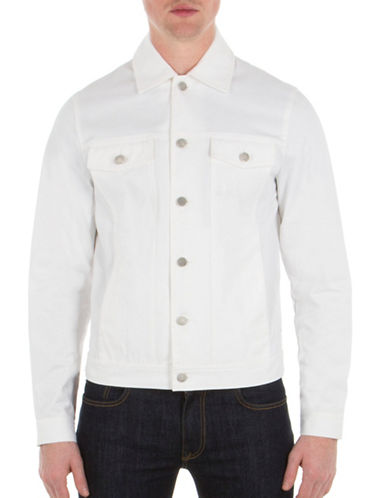 Ben Sherman Modern Trucker Jacket-WHITE-Medium
