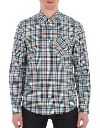 Ben Sherman Tartan Gingham Sport Shirt-PINK-Medium