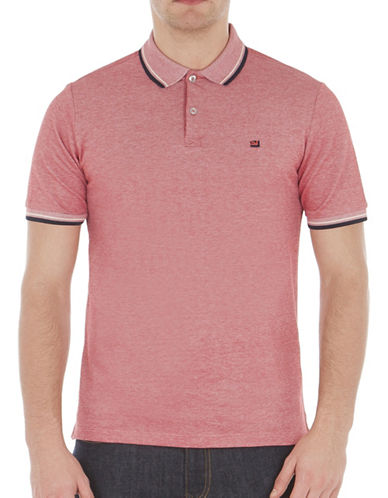 Ben Sherman Striped Short Sleeve Romford Polo-RED-Small