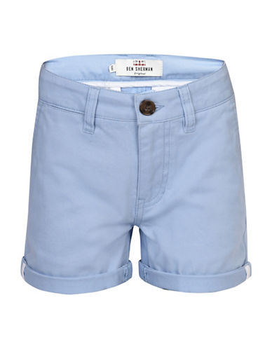 Ben Sherman Twill Chino Shorts-BLUE-10-11