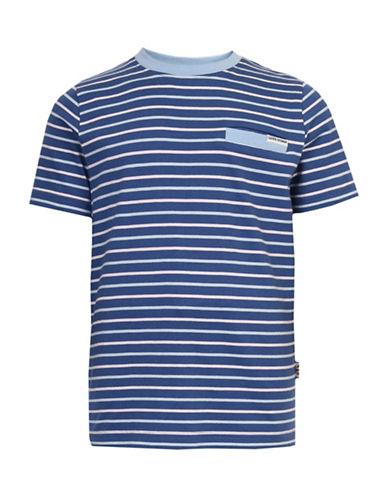 Ben Sherman Striped Short Sleeve Tee-BLUE-10-11