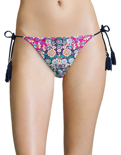 Nanette Lepore Desert Diamond Tasselled Tie Swim Bottoms-MUTLI-X-Small