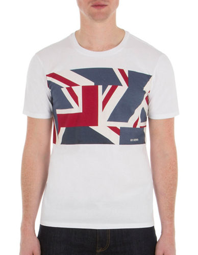 Ben Sherman Union Jack T-Shirt-WHITE-X-Large 89144470_WHITE_X-Large