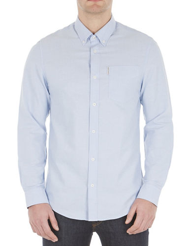 Ben Sherman Button-Down Oxford Shirt-BLUE-Medium