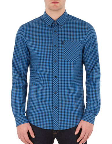 Ben Sherman House Check Button-Down Shirt-DEEP BLUE-X-Large