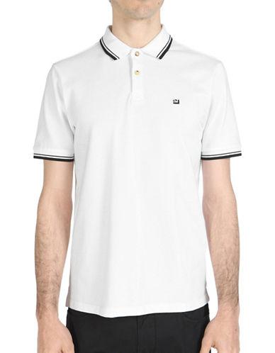 Ben Sherman Striped Short Sleeve Romford Polo-WHITE-Medium