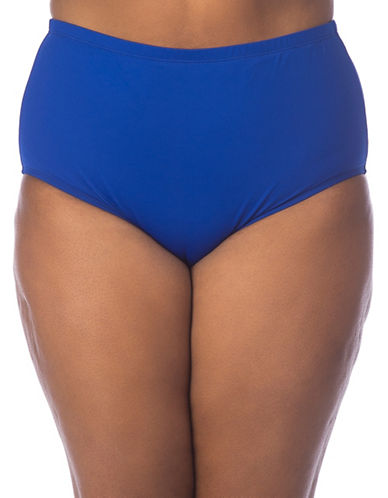 La Blanca Plus Solid High-Rise Swim Bottoms-SAPHIRE-18W