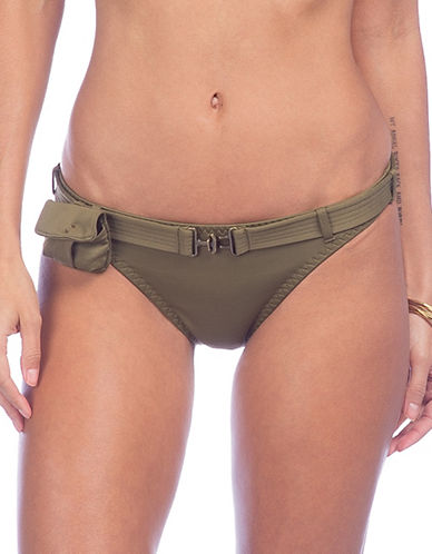 Polo Ralph Lauren Belted Hipster Swim Bottoms-SAFARI OLIVE-Large