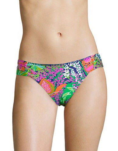 Trina Turk Tropical Floral  Shirred Hipster Swim Bottom-MUTLICOLORED-12