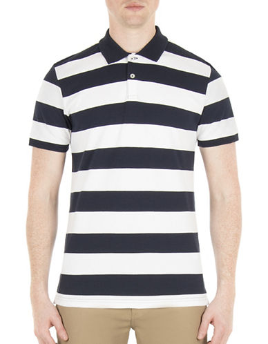 Ben Sherman Brighton Breton Striped Polo-BLUE-Small