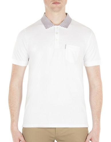 Ben Sherman Brighton Breton Apple Print Cotton Polo-GREY-X-Large