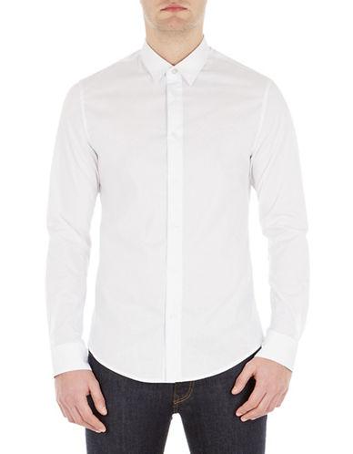 Ben Sherman Classic Sport Shirt-WHITE-X-Large
