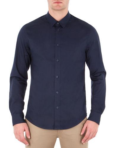 Ben Sherman Classic Sport Shirt-BLUE-Large