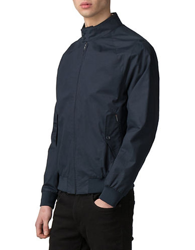 Ben Sherman New Core Harrington Cotton Jacket-BLUE-X-Large