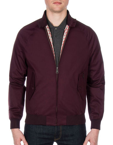 Ben Sherman New Core Harrington Cotton Jacket-PURPLE-Large