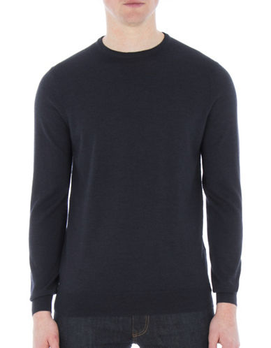 Ben Sherman Merino Wool Sweater-BLUE-XX-Large
