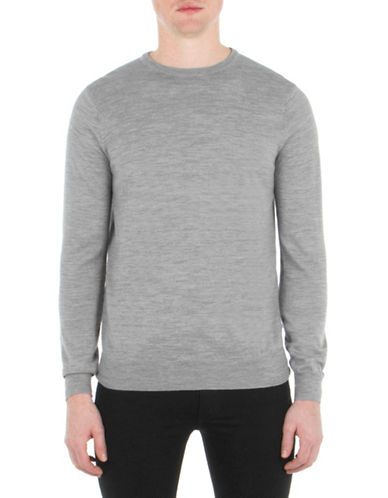 Ben Sherman Merino Wool Sweater-BEIGE-Small