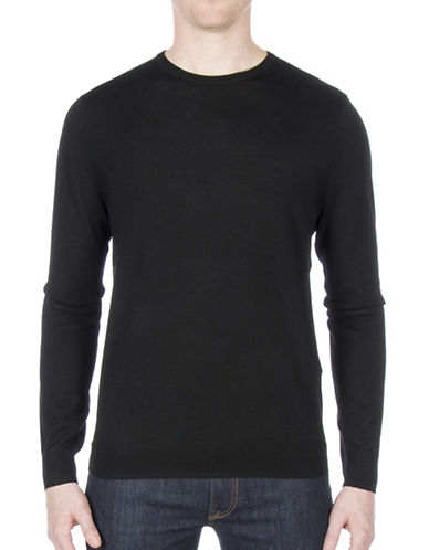 Ben Sherman Merino Wool Sweater-BLACK-X-Large
