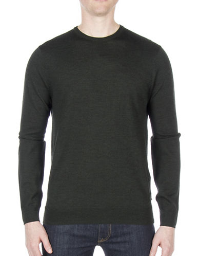Ben Sherman Merino Wool Sweater-GREEN-Small
