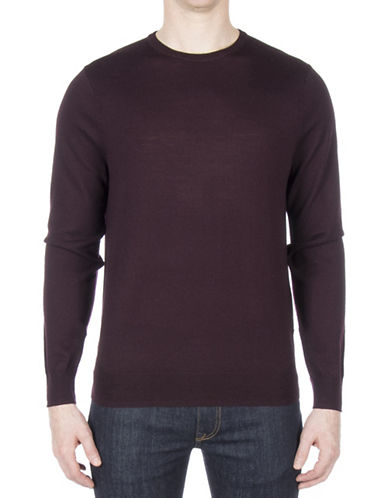 Ben Sherman Merino Wool Sweater-PURPLE-Small