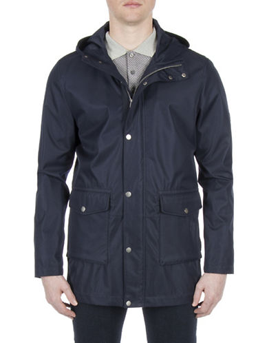 Ben Sherman Technical Parka-NAVY-Large
