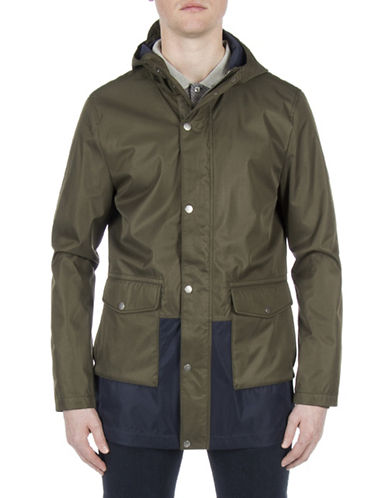 Ben Sherman Technical Parka-GREEN-Large
