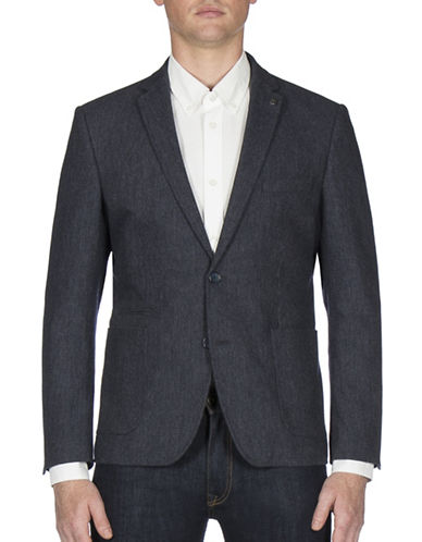 Ben Sherman Micro Textured Sports Jacket-BLUE-44 Tall