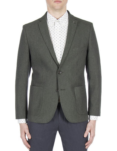 Ben Sherman Micro Textured Sports Jacket-GREEN-44
