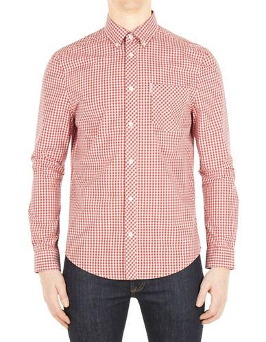 Ben Sherman Core Gingham Sport Shirt-RED-X-Large