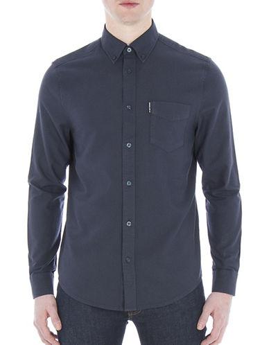 Ben Sherman Mod-Fit Oxford Sport Shirt-NAVY-Medium