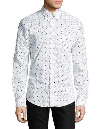 Ben Sherman Polka Dot Shirt-GREY-X-Large