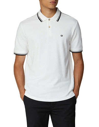 Ben Sherman Romford Tipped Polo-GREY-Medium