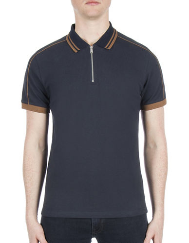 Ben Sherman Future Mod Short Sleeve Sartorial Polo-BLUE-Large