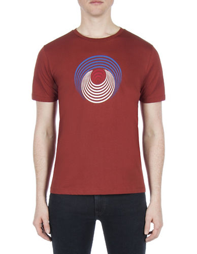 Ben Sherman Optical Target Cotton T-Shirt-COPPER-X-Large