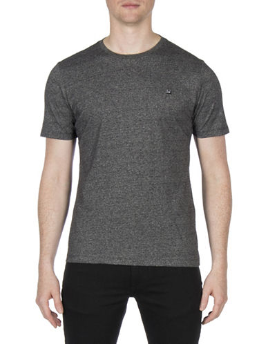 Ben Sherman Grindle Cotton Tee-BLACK-Large