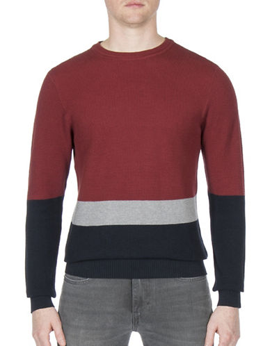 Ben Sherman Colourblock Cotton Sweatshirt-COPPER-X-Large