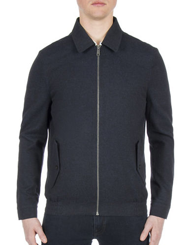 Ben Sherman Sartorial Blouson Jacket-BLUE-Small