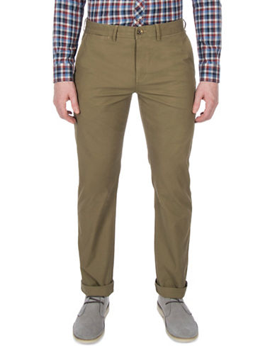 Ben Sherman Slim-Fit Stretch Chino Pants-OLIVE-38