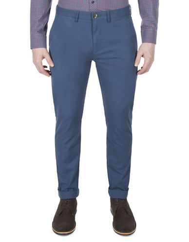 Ben Sherman Slim-Fit Stretch Chino Pants-BLUE-36