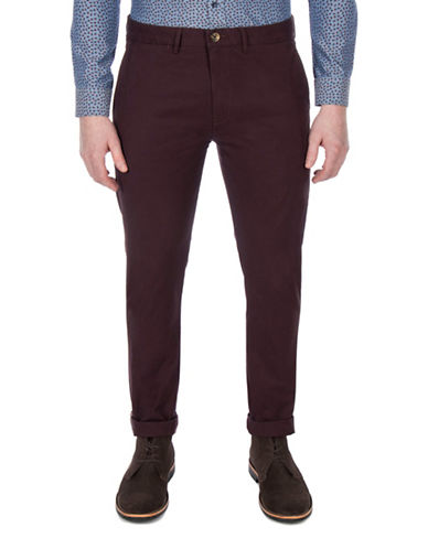 Ben Sherman Future Mod Slim Stretch Chinos-PURPLE-34
