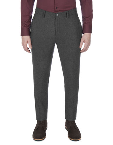 Ben Sherman Textured Trousers-GREY-34