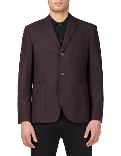 Ben Sherman Modern Dandy Wool-Blend Utility Blazer-RED-42X36