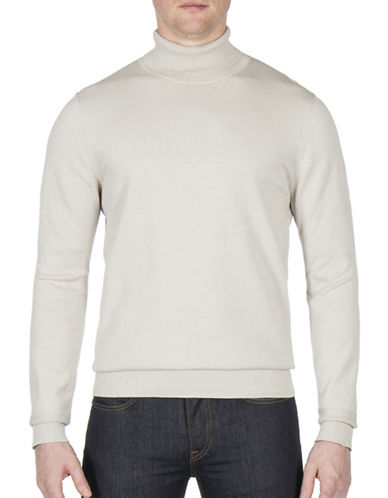 Ben Sherman The Finge Gauge Cotton Turtleneck-GREY-Medium