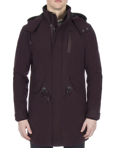 Ben Sherman Bonded Parka Jacket-PURPLE-X-Large