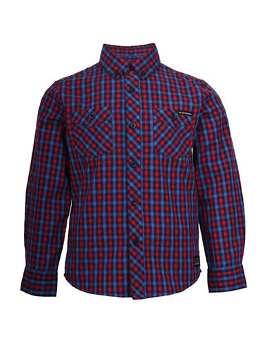 Ben Sherman House Check Cotton Sport Shirt-RED-8-9