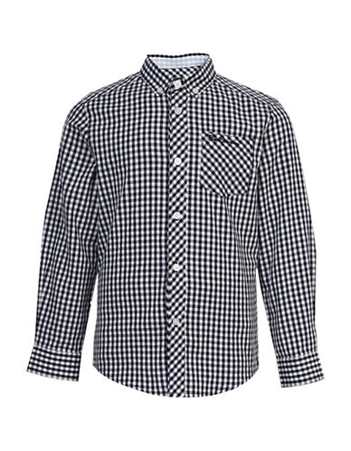 Ben Sherman Gingham Button Front Shirt-NAVY-14