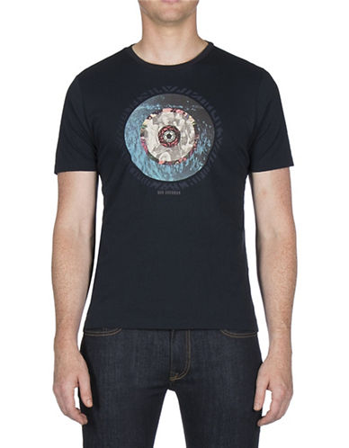 Ben Sherman Target Print T-Shirt-BLUE-Medium 89635848_BLUE_Medium