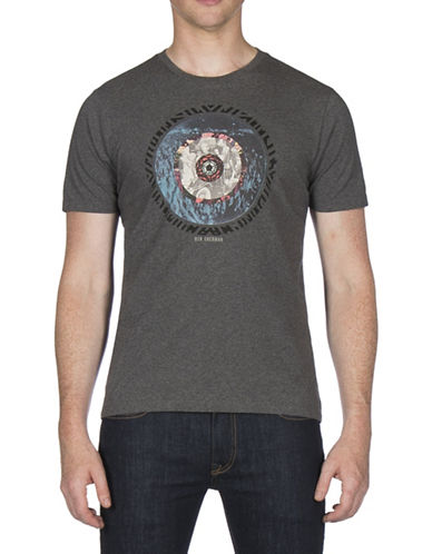 Ben Sherman Target Print T-Shirt-GREY-Large